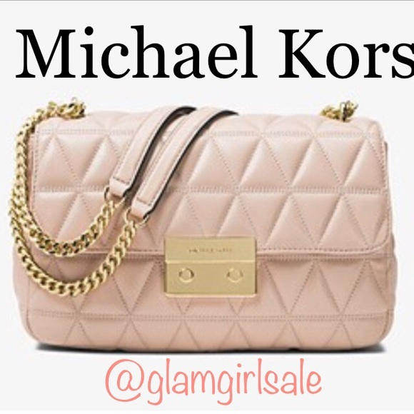 ffe9b28a83b Michael Kors Sloan Large Quilted shoulder Bag 👜❤ .  M 5bf25823c2e9fe8a92b439f7